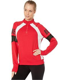 Bebe Sport Sport Color Block Zip Top