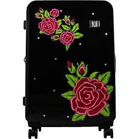 "Ful Printed Rose 25"" Hardside Checked Spinner Lugg"