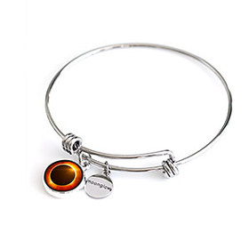Solar Eclipse Moonstock Bangle Bracelet