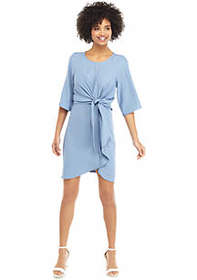 The Limited Knot Front Drape Dress