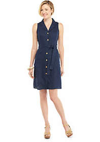 The Limited Sleeveless Collared Button Down Dress