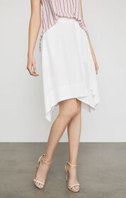 BCBG Claire Sueded Faux-Wrap Skirt