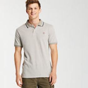 Timberland Men's Slim Fit Tipped Pique Polo Shirt