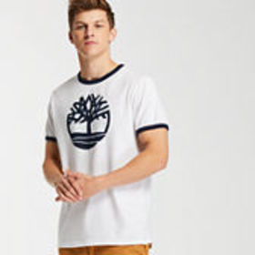 Timberland Men's Crackle Tree Logo Ringer T-Shirt