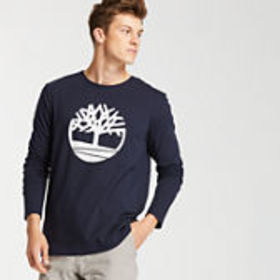 Timberland Men's Long Sleeve Tree Logo Ringer T-Sh