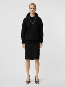 Burberry Wool High-waisted Pencil Skirt in Black