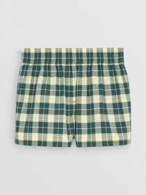Burberry Check Cotton High-waisted Shorts in Dark