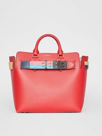 Burberry The Medium Leather Colour Block Detail Be