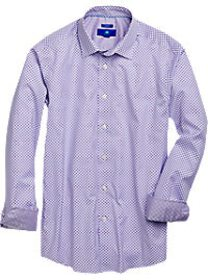 Egara Purple & Blue Slim Fit Sport Shirt