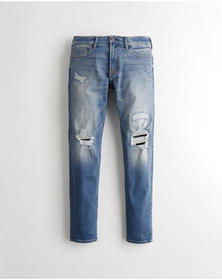 Hollister Advanced Stretch Skinny Jeans, LIGHT WAS