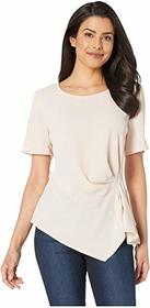 Vince Camuto Short Sleeve Side Gather Asymmetrical