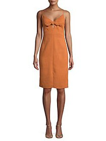 ASTR The Label Front-Knot Sheath Dress APRICOT