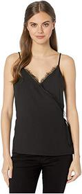 1.STATE Spaghetti Strap Wrap Front Cami with Lace