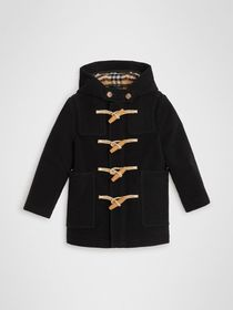 Burberry Double-faced Wool Duffle Coat in Black