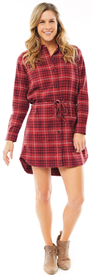 Carve Designs Creston Flannel Dress