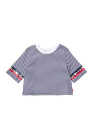 Levi's Cropped Tie Front Knit Top (Big Girls)
