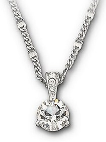 Swarovski Round Solitaire Crystal Pendant Necklace