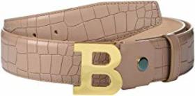 Bally Adjustable B Buckle Belt