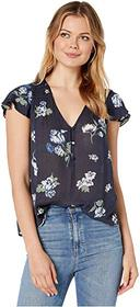 Lucky Brand Printed Short Sleeve Top