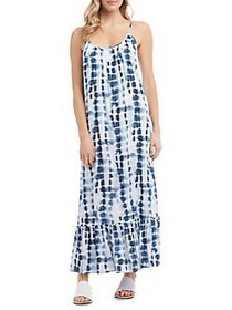 Karen Kane Tie-Dyed Maxi Dress BLUE