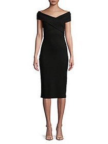 MICHAEL Michael Kors Striped Sheath Dress BLACK