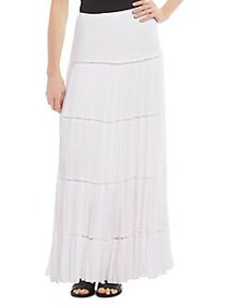 Karen Kane Pleated Midi Skirt OPTIC WHITE