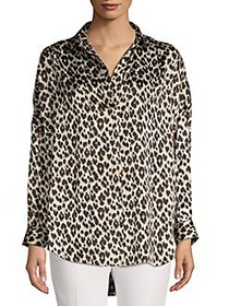 French Connection Leopard-Print Blouse LEOPARD PRI