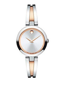Movado Aleena Two-Tone Stainless Steel Diamond-Tri