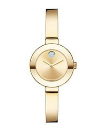 Movado BOLD Crystal & Goldtone IP Stainless Steel