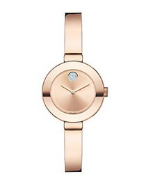 Movado BOLD Rose Goldtone IP Stainless Steel & Cry