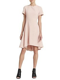 Donna Karan Flounce Fit-&-Flare Dress BLUSH