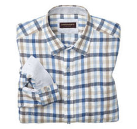 Johnston Murphy Multi Gingham Washed Linen Shirt