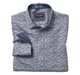 Johnston Murphy Layered Line Flower Print Shirt