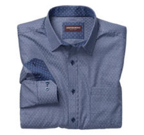 Johnston Murphy Triple Line Basketweave Shirt