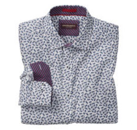 Johnston Murphy Floating Feather Print Shirt