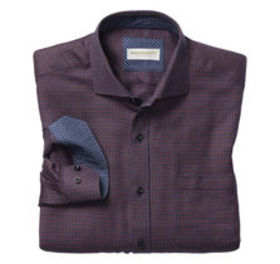Johnston Murphy Italian Micro Houndstooth Shirt