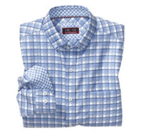 Johnston Murphy XC4® Framed Check Button-Collar Sh