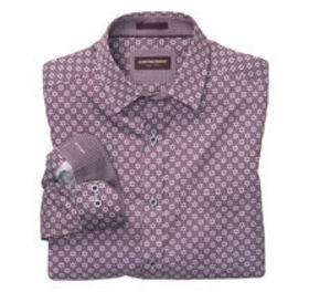 Johnston Murphy Open Flower Print Shirt