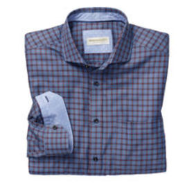 Johnston Murphy Italian Textured Windowpane Shirt
