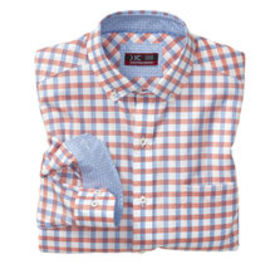Johnston Murphy XC4® Wide Gingham Oxford Button-Co