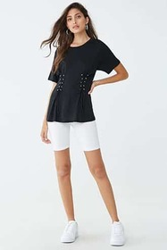 Forever21 Lace-Up Princess Top