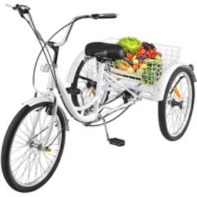 """BestEquip 24""""Adult Tricycle 3-Wheel 1 Speed Bicycl"""