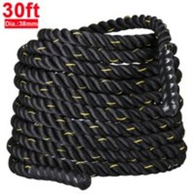 """Yaheetech 1.5"""" Poly Polyester 30ft Battle Rope Exe"""