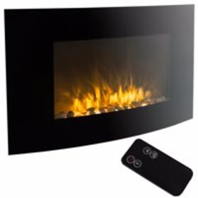 """35"""" Electric Fireplace 1500W Heat Adjustable Elect"""