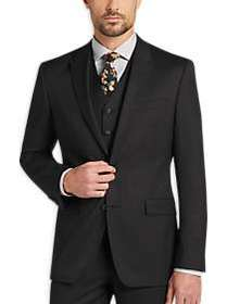 DKNY Charcoal Check Extreme Slim Fit Vested Suit