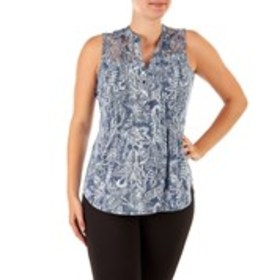 Sleeveless Lace Inset Top
