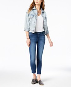 M1858 Kristen Mid-Rise Cropped Skinny Jeans with C