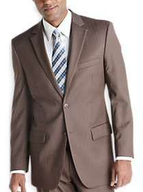 Wilke Rodriguez Taupe Stripe Modern Fit Suit
