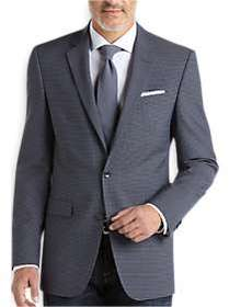 Kenneth Cole Blue Check Slim Fit Sport Coat