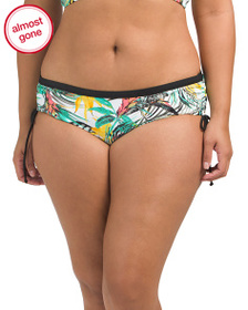SKYE Plus Suri Leaf Print Swim Bottom